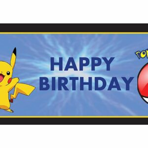 Pokemon Banner (5Ft*2Ft) For Pokemon Birthday Decoration