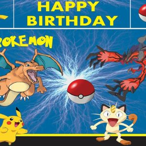 Pokemon Backdrop 6Ft- 4Ft