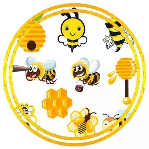 BUMBLE BEE THEME CUTOUT