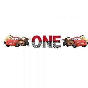 Car Theme Age Bunting – One for McQueen