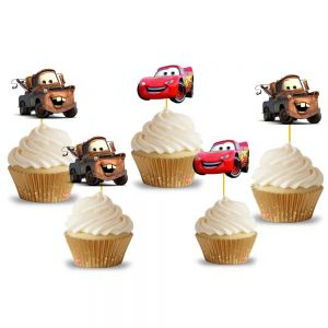 McQueen Cupcake Toppers (14 Pieces)