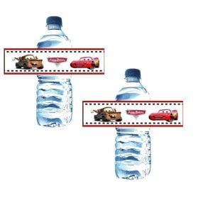 McQueen Water Bottle Labels (12 Pieces)