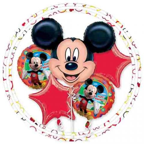 MICKEY MOUSE 1ST BIRTHDAY BALLOONS