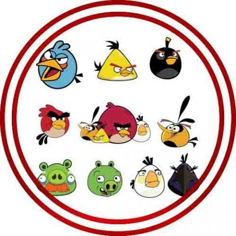 ANGRY BIRDS CARDSTOCK CUTOUT