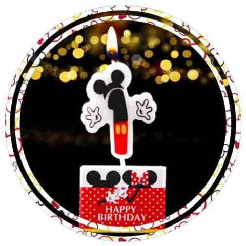 MICKEY MOUSE 1ST BIRTHDAY CANDLES