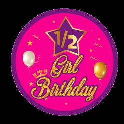 GIRLS HALF BIRTHDAY