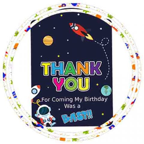 ASTRONAUT THEME FAVOR & RETURN