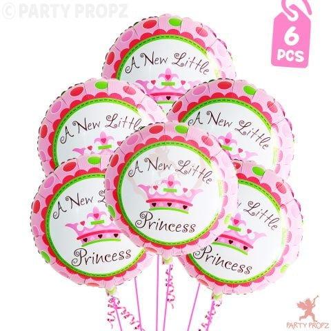18 Princess Foil Balloons