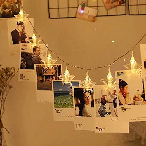 20 Led Star Photo Clip Fairy String