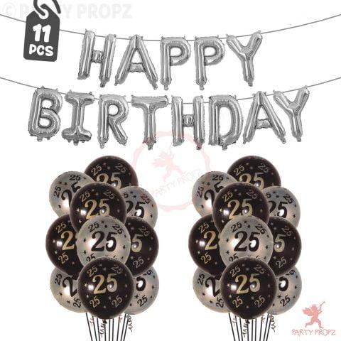 25th Birthday Decoration Balloons Combo