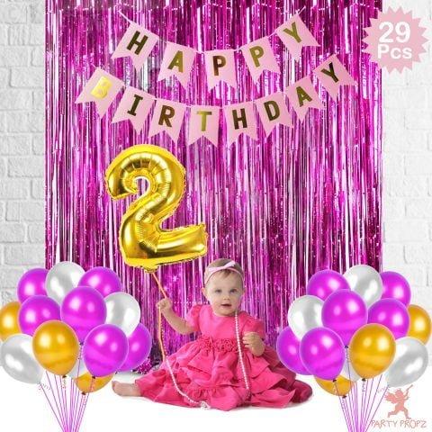 2nd Birthday Decorations Combo