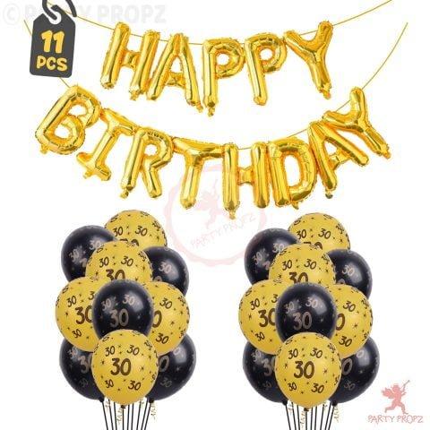 30th Birthday Decoration Balloons Combo