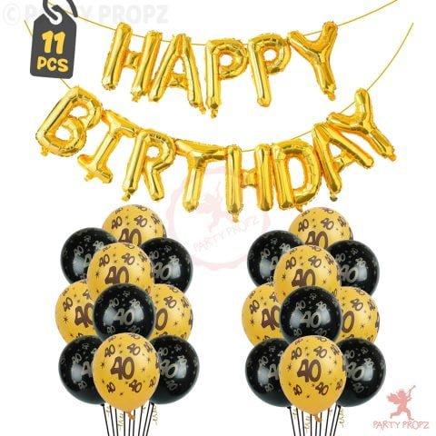 40th Birthday Decoration Balloons Combo