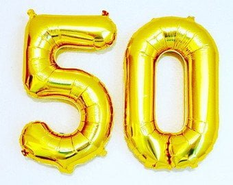 50 Number Foil Balloon