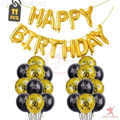 50th Birthday Decoration Balloons Combo