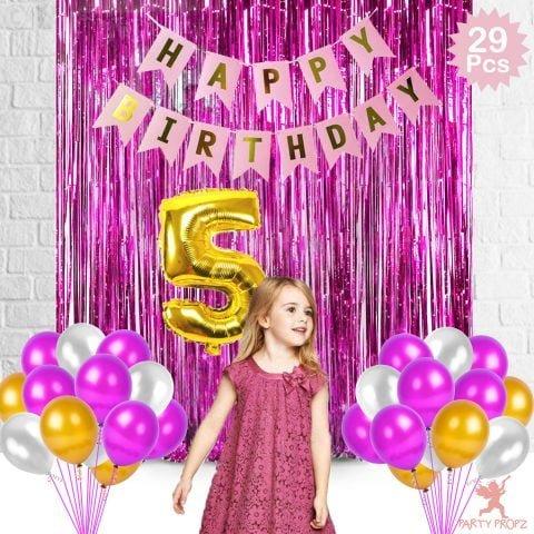 5th Birthday Decoration Combo