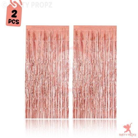 Big Size Rose Gold Foil Curtains