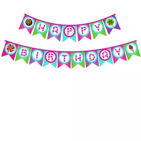Candy Birthday Bunting Banner 1