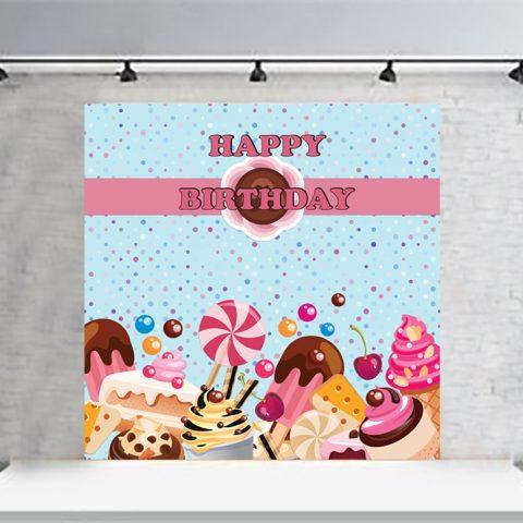 Candy Theme Backdrop Decoration