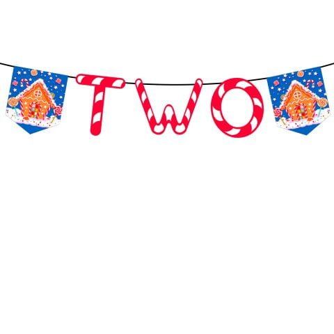 Candy Theme Birthday Banner Two