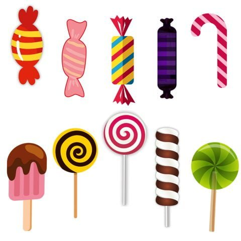 Candy Theme Cardstock cutout