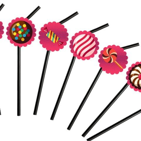 Candy Theme Straw