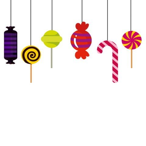 Candy Theme String Banner