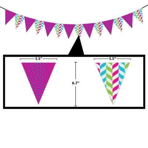 Candy pennant banner