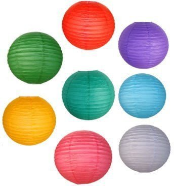 Colour paper lanterns