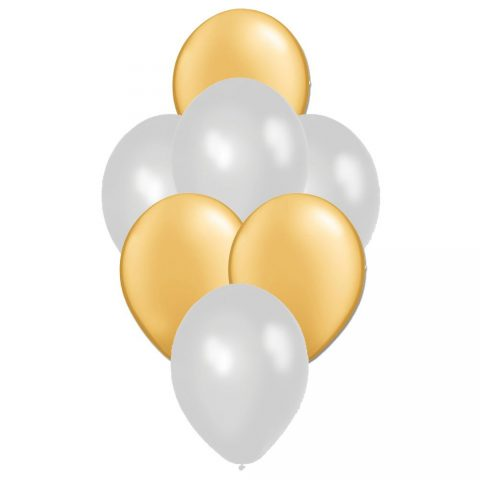 Golden and Silver Latex Balloon