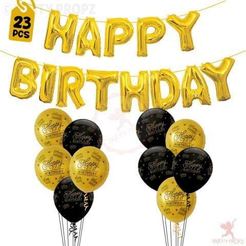 Happy Birthday Foil Balloons Combo