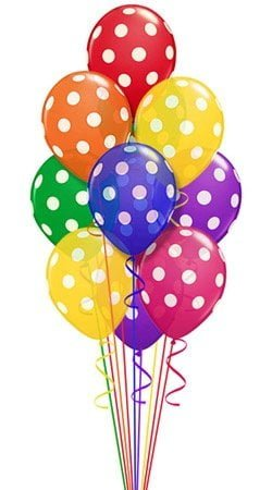 Multicolour Polka Dot balloon 1