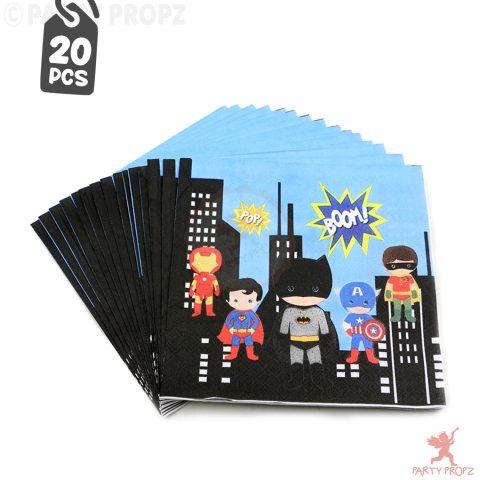 Super Hero Theme Paper Napkins