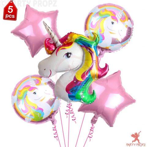 Unicorn Theme Foil Balloons