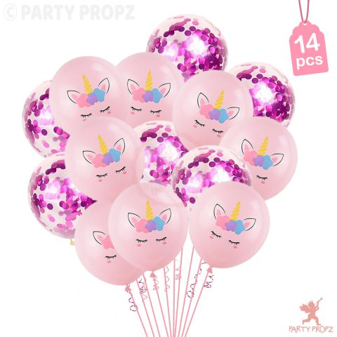 Unicorn Theme Latex Balloons