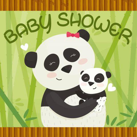 Baby Shower Panda Backdrop