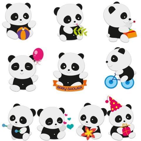 Baby Shower Panda Card Stock