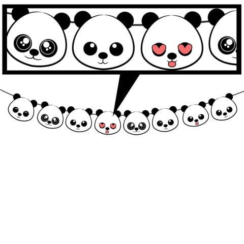Baby Shower Panda Character bunting