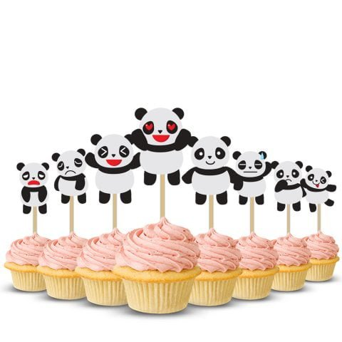 Baby Shower Panda Cup Cake Topper