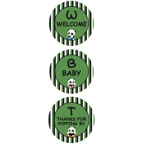 Baby Shower Panda Door Board