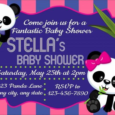 Baby Shower Panda Invitation