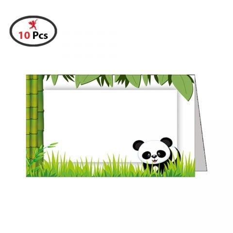 Baby Shower Panda Menu card