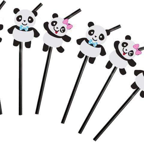 Baby Shower Panda Straw