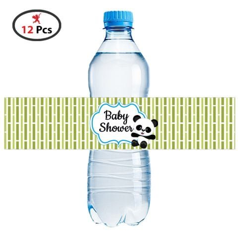 Baby Shower panda Bottle Wrapper