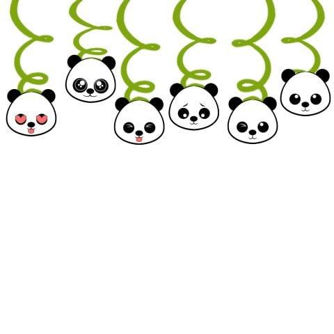 Baby shower Panda Swirl