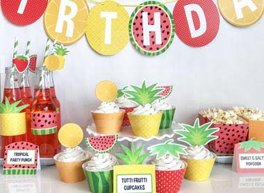fruit theme party supply