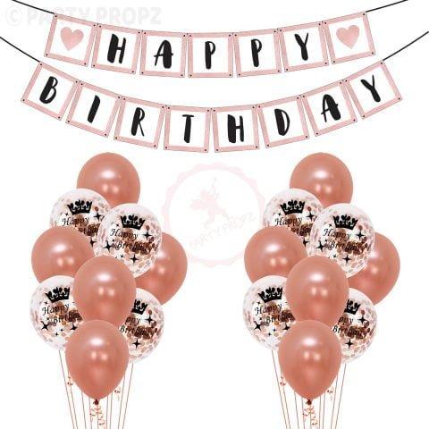 Rose Gold Birthday Combo