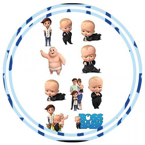 BOSS BABY THEME CARDSTOCK CUTOUT