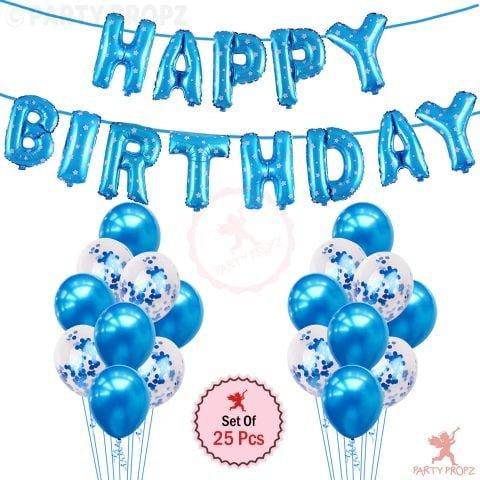 Blue happy Birthday combo