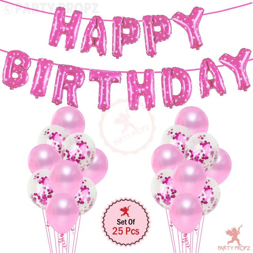 Pink Happy Birthday combo